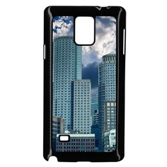 Tower Blocks Skyscraper City Modern Samsung Galaxy Note 4 Case (black) by Celenk