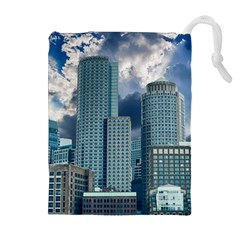 Tower Blocks Skyscraper City Modern Drawstring Pouches (extra Large) by Celenk