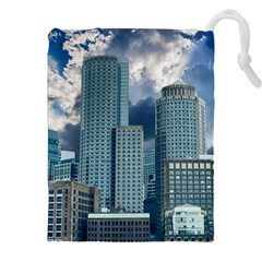 Tower Blocks Skyscraper City Modern Drawstring Pouches (xxl) by Celenk