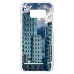 Tower Blocks Skyscraper City Modern Samsung Galaxy S8 White Seamless Case