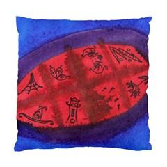Red Egg Standard Cushion Case (two Sides) by snowwhitegirl