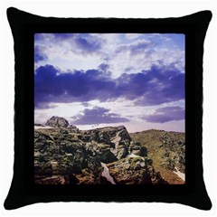 Mountain Snow Landscape Winter Throw Pillow Case (black)
