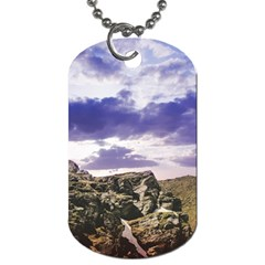 Mountain Snow Landscape Winter Dog Tag (two Sides)