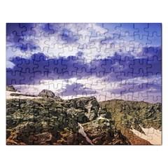 Mountain Snow Landscape Winter Rectangular Jigsaw Puzzl by Celenk