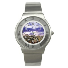 Mountain Snow Landscape Winter Stainless Steel Watch