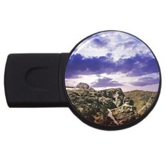 Mountain Snow Landscape Winter Usb Flash Drive Round (4 Gb)