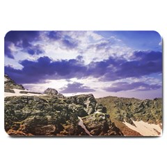 Mountain Snow Landscape Winter Large Doormat  by Celenk