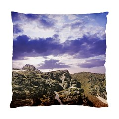Mountain Snow Landscape Winter Standard Cushion Case (two Sides)