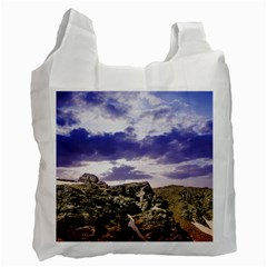 Mountain Snow Landscape Winter Recycle Bag (two Side)