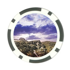 Mountain Snow Landscape Winter Poker Chip Card Guard (10 Pack)