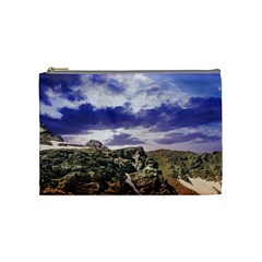 Mountain Snow Landscape Winter Cosmetic Bag (medium)