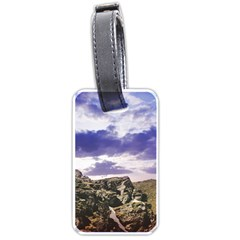 Mountain Snow Landscape Winter Luggage Tags (one Side)