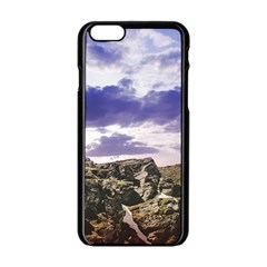 Mountain Snow Landscape Winter Apple Iphone 6/6s Black Enamel Case