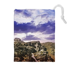 Mountain Snow Landscape Winter Drawstring Pouches (extra Large)
