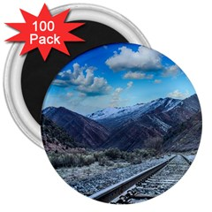Nature Landscape Mountains Slope 3  Magnets (100 Pack) by Celenk