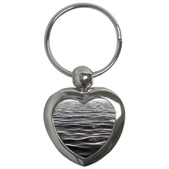 Texture Background Water Key Chains (heart)  by Celenk