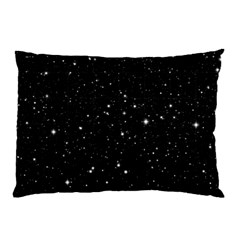 Black Background Texture Stars Pillow Case (two Sides) by Celenk