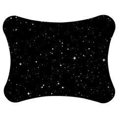 Black Background Texture Stars Jigsaw Puzzle Photo Stand (bow) by Celenk