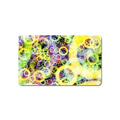 Background Texture Rings Magnet (name Card) by Celenk