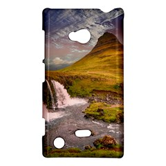 Nature Mountains Cliff Waterfall Nokia Lumia 720 by Celenk