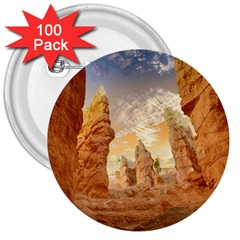 Canyon Desert Landscape Scenic 3  Buttons (100 Pack)  by Celenk
