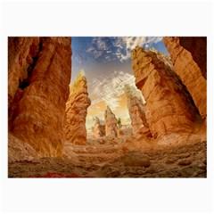 Canyon Desert Landscape Scenic Large Glasses Cloth (2 Side) by Celenk