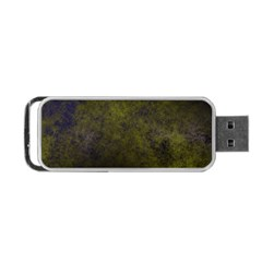Green Background Texture Grunge Portable Usb Flash (one Side) by Celenk