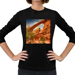 Canyon Desert Rock Scenic Nature Women s Long Sleeve Dark T Shirts by Celenk