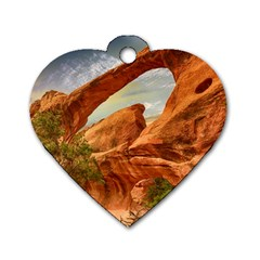 Canyon Desert Rock Scenic Nature Dog Tag Heart (one Side) by Celenk