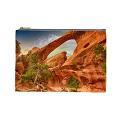 Canyon Desert Rock Scenic Nature Cosmetic Bag (large)  by Celenk