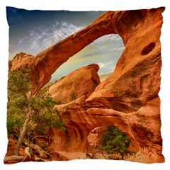 Canyon Desert Rock Scenic Nature Large Flano Cushion Case (two Sides) by Celenk