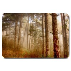 Forest Trees Wood Branc Large Doormat  by Celenk