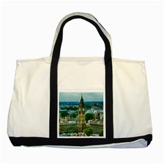 London England City Landmark Two Tone Tote Bag by Celenk