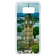 London England City Landmark Samsung Galaxy S8 White Seamless Case