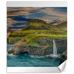 Coastline Waterfall Landscape Canvas 20  X 24
