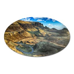Nature Landscape Mountains Outdoor Oval Magnet