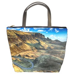 Nature Landscape Mountains Outdoor Bucket Bags by Celenk