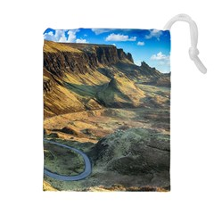 Nature Landscape Mountains Outdoor Drawstring Pouches (extra Large) by Celenk
