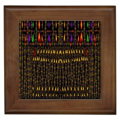 Hot As Candles And Fireworks In Warm Flames Framed Tiles by pepitasart