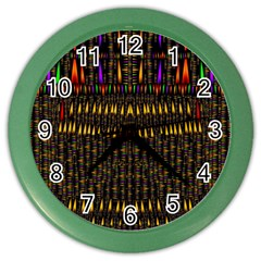 Hot As Candles And Fireworks In Warm Flames Color Wall Clocks by pepitasart