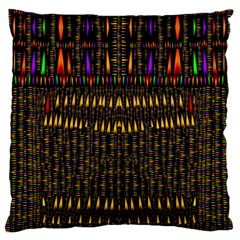 Hot As Candles And Fireworks In Warm Flames Large Flano Cushion Case (one Side) by pepitasart