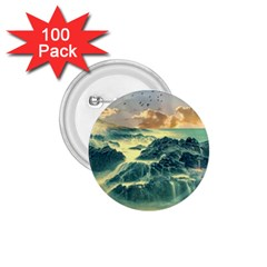 Coastline Sea Nature Sky Landscape 1 75  Buttons (100 Pack)