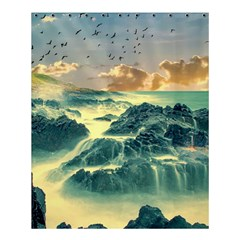 Coastline Sea Nature Sky Landscape Shower Curtain 60  X 72  (medium)  by Celenk