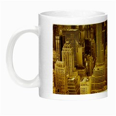 New York Empire State Building Night Luminous Mugs by Celenk