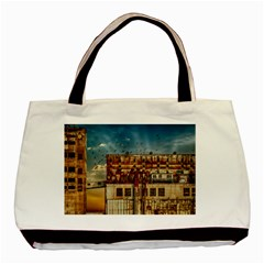 Ruin Abandoned Building Urban Basic Tote Bag by Celenk