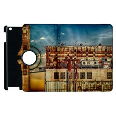 Ruin Abandoned Building Urban Apple Ipad 2 Flip 360 Case by Celenk