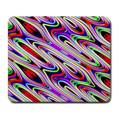 Multi Color Wave Abstract Pattern Large Mousepads by Celenk