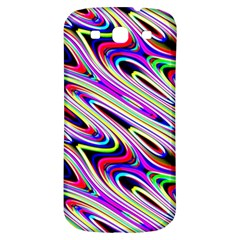 Multi Color Wave Abstract Pattern Samsung Galaxy S3 S Iii Classic Hardshell Back Case by Celenk