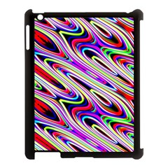 Multi Color Wave Abstract Pattern Apple Ipad 3/4 Case (black) by Celenk