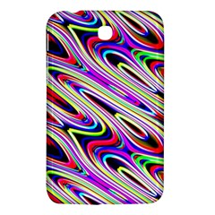 Multi Color Wave Abstract Pattern Samsung Galaxy Tab 3 (7 ) P3200 Hardshell Case  by Celenk